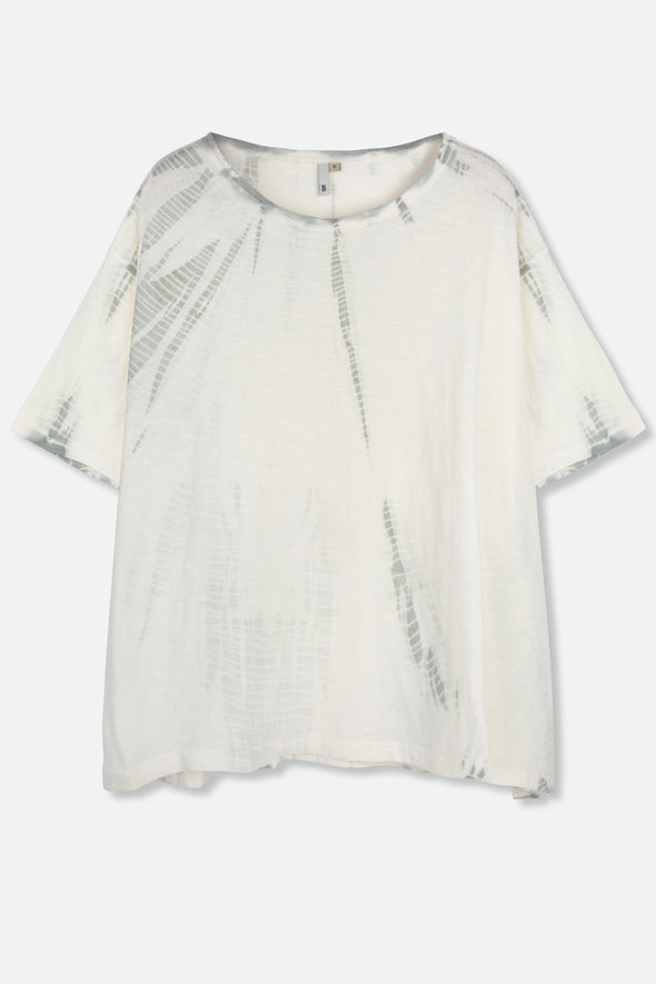 HASSA TOP IN SHIBORI-DYED SLUB COTTON