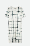 SOLA DRESS IN SHIBORI SLUB COTTON
