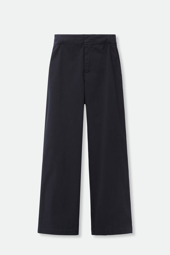 CARA PANT IN ITALIAN BRUSHED COTTON SATEEN