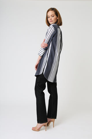 Striped Button Tunic
