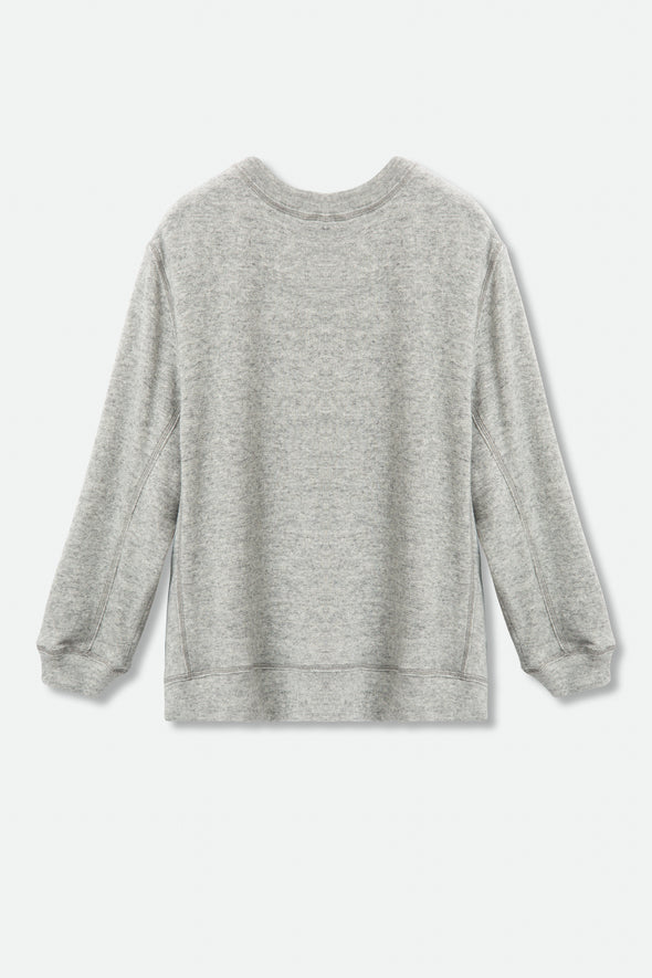 CHLOE PULLOVER IN COTTON-CASHMERE FLEECE
