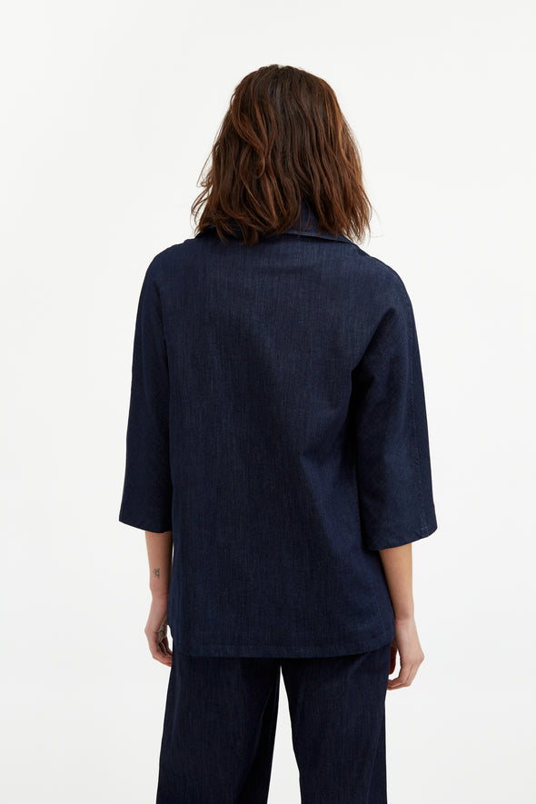 SAVOY CITY JACKET IN LIGHTWEIGHT STRETCH DENIM