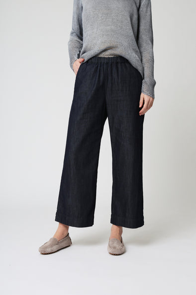 Wide Leg Denim Easy Pant