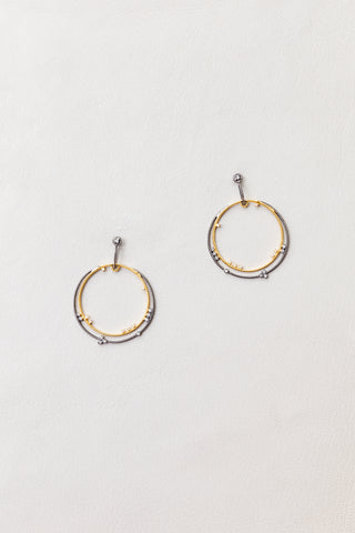 Gold & Silver Hoops