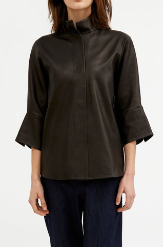 Leather Wide Cuff Top