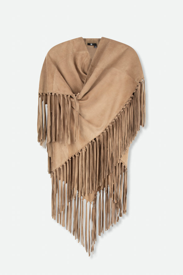 FRINGE WRAP IN SUEDE