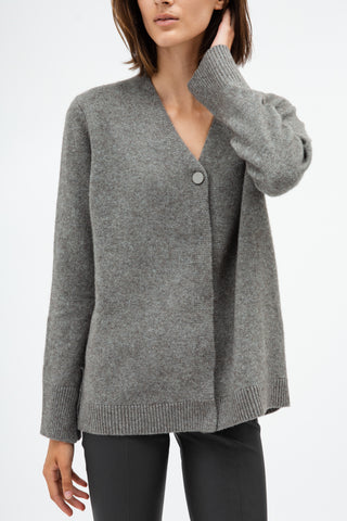 Reverse Button Cardigan
