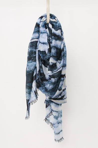 ACQUA SCARF IN HAND-DYED CASHMERE