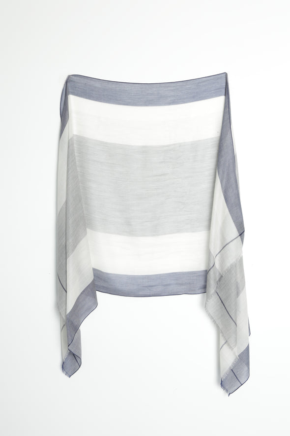STRIPE SCARF IN CASHMERE