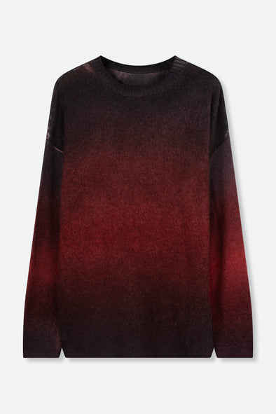 CREW NECK SWEATER IN HAND-DYED CASHMERE
