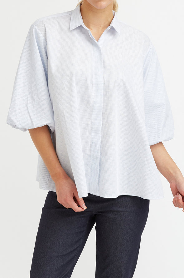 ROSALIE SHIRT IN STRETCH COTTON POPLIN