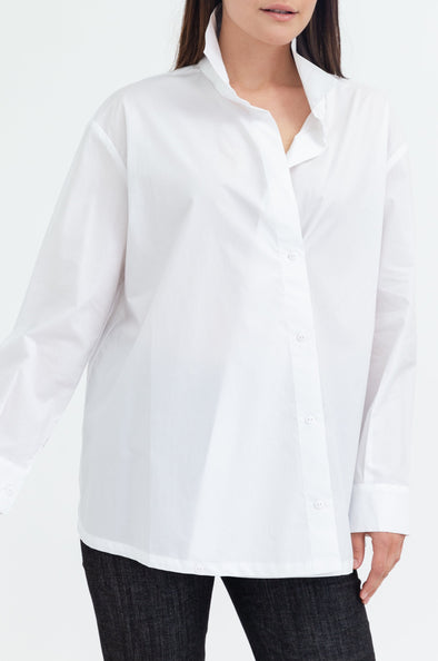 blouse white shirt button long sleeved