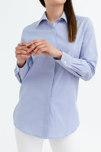 JAMES SHIRT IN STRETCH COTTON POPLIN