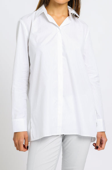 PLEAT BACK SHIRT IN COTTON