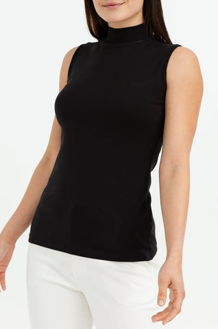 Sleeveless High Neck