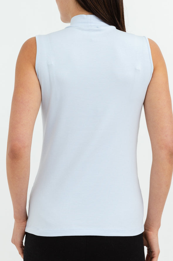 SLEEVELESS HIGH NECK IN PIMA COTTON STRETCH