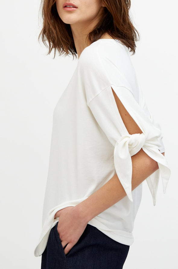 TIE TOP IN PIMA COTTON STRETCH