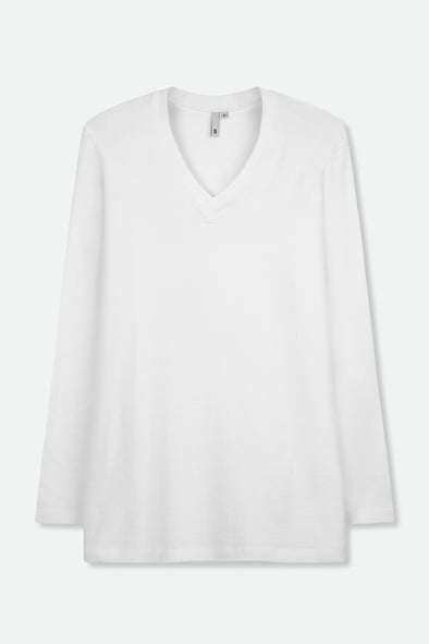 A-LINE V-NECK IN PIMA COTTON STRETCH