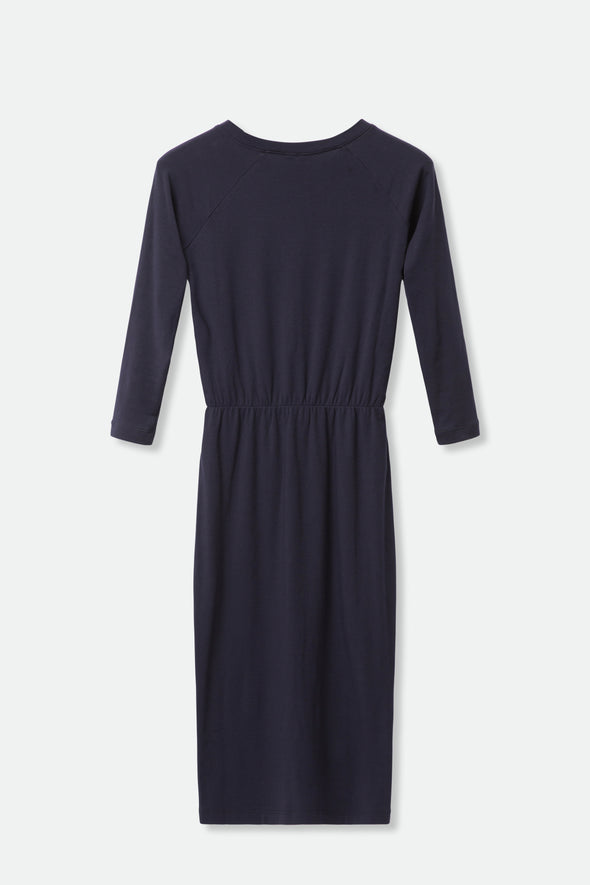 RAGLAN DRESS IN PIMA COTTON STRETCH