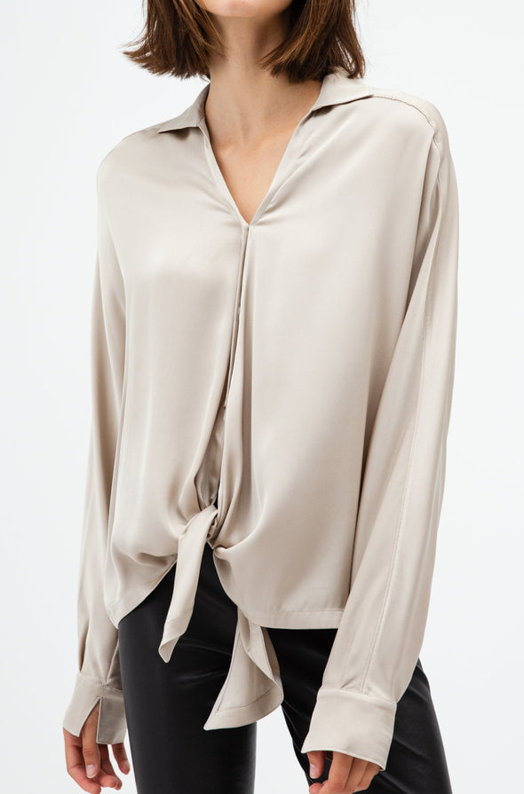 MARIE BLOUSE IN STRETCH SILK GEORGETTE