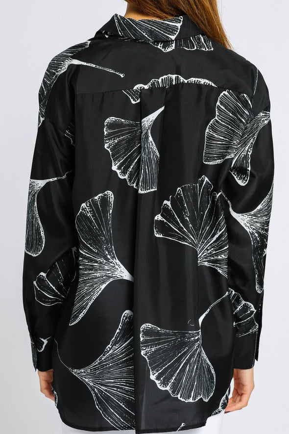 PRINTED BLOUSE IN SILK