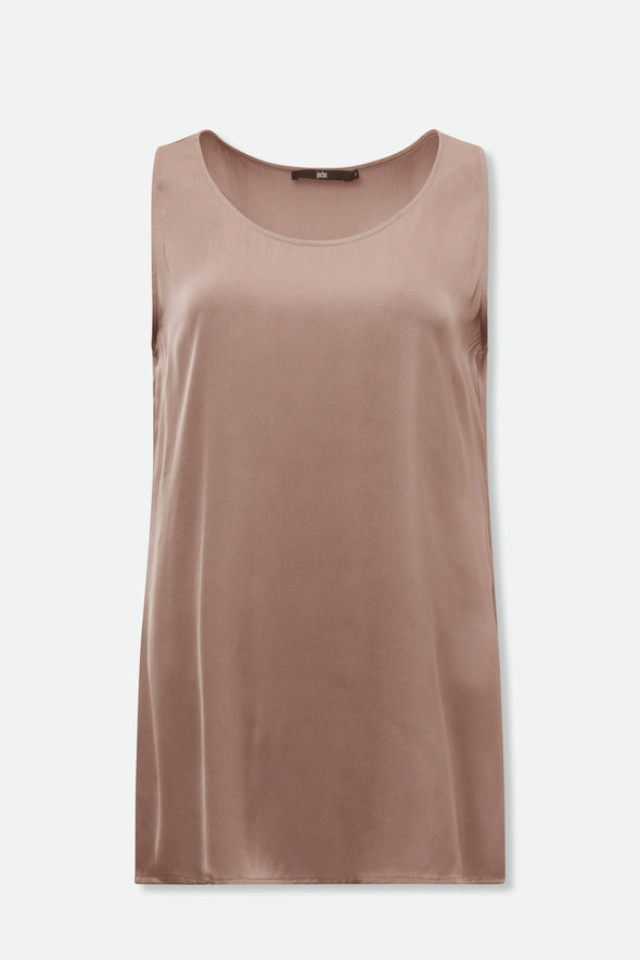 ALENA TANK IN STRETCH SILK DOUBLE GEORGETTE