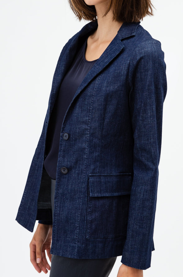 ANNA BLAZER IN STRETCH DENIM