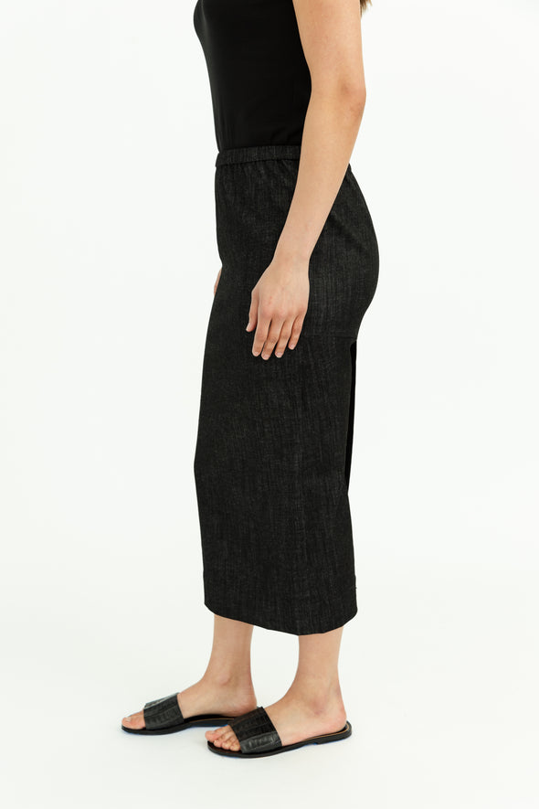 LONG SKIRT IN STRETCH DENIM