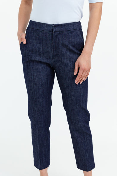 ANGLE POCKET TROUSER IN STRETCH DENIM