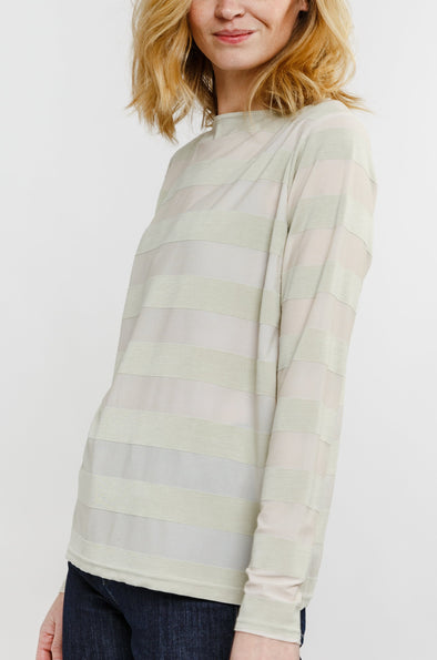 LONG SLEEVE BATEAU NECK