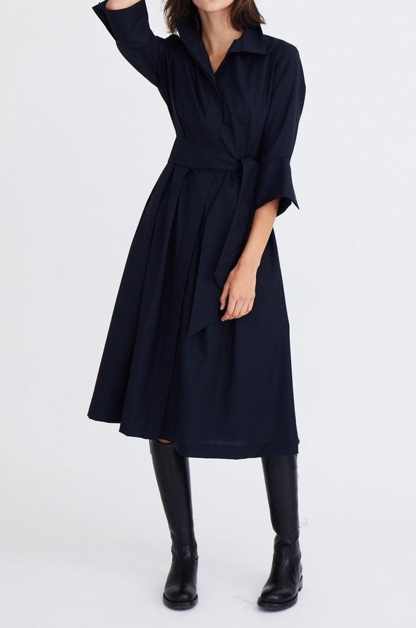 GABRIELLE DRESS IN COTTON POPLIN