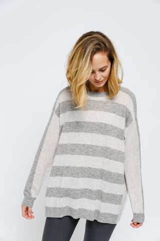 Stripe Front Sweater