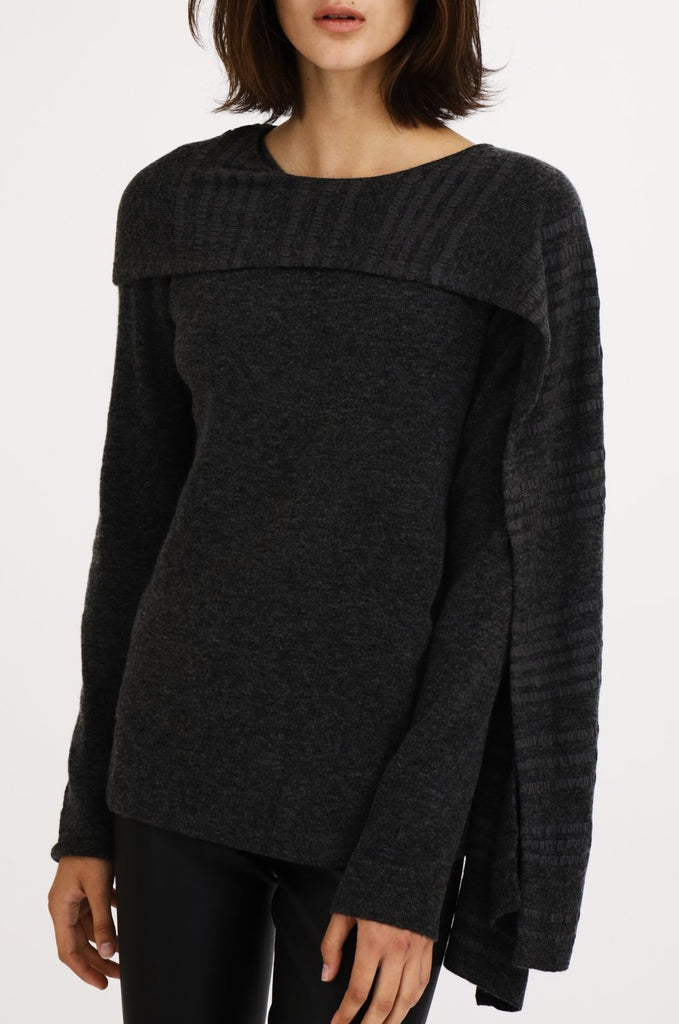 Asymmetrical Scarf Sweater