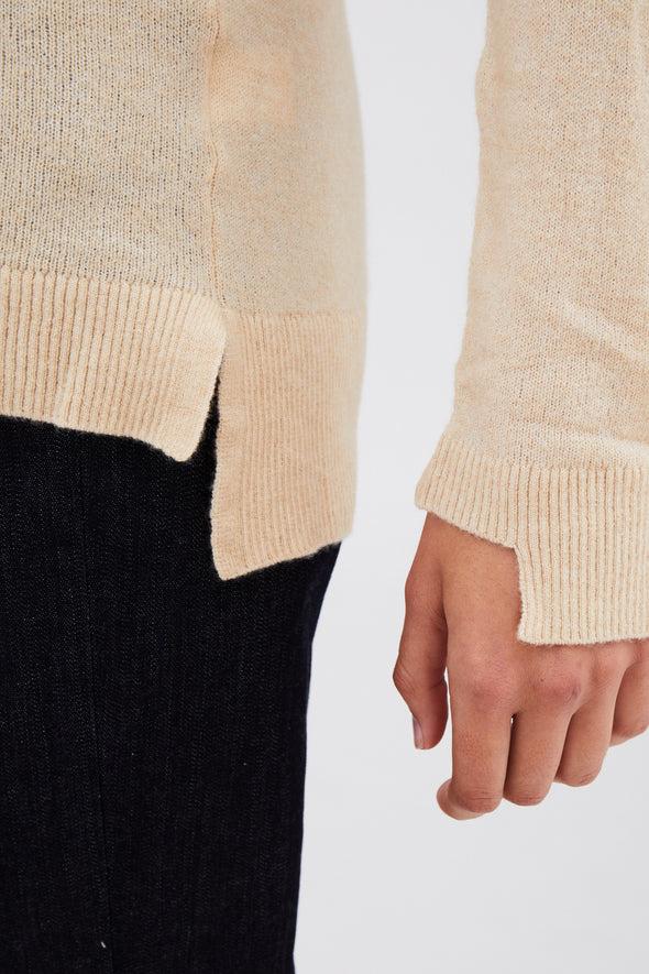 SHAWL BUTTON CARDIGAN IN MERINO-CASHMERE BLENDED