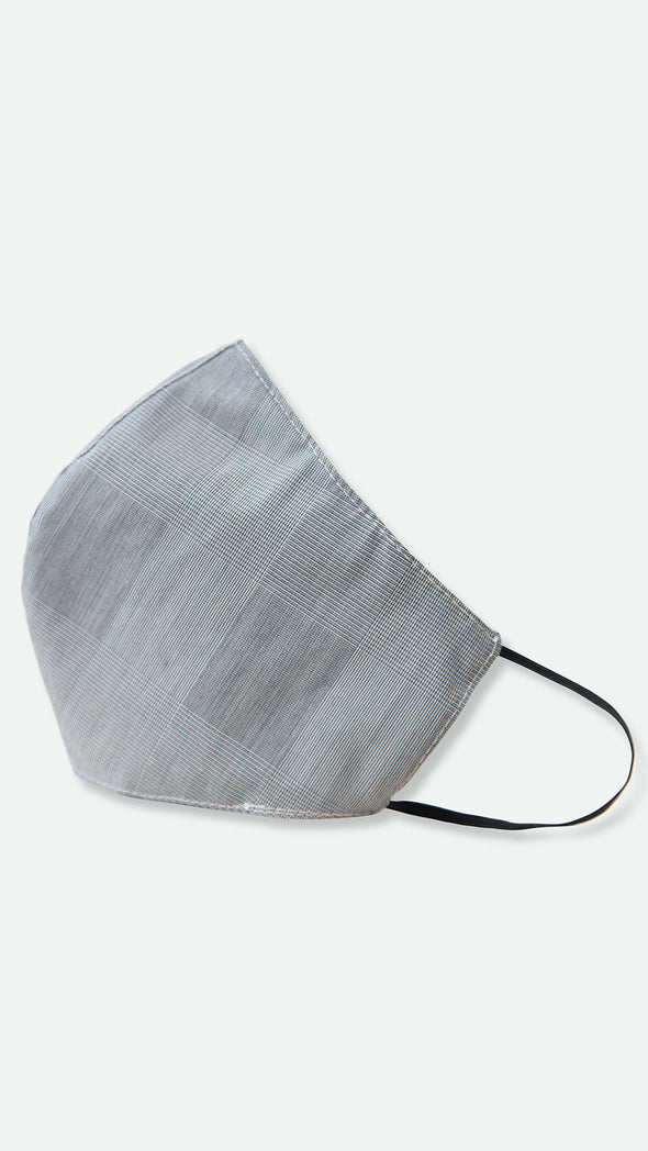 REVERSIBLE FACE MASK IN ITALIAN POPLIN