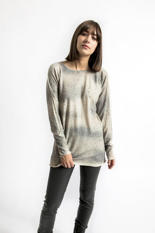 Spray-Dyed Cashmere Pullover