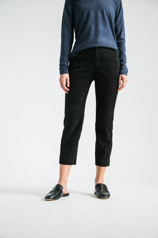 Suede Trouser