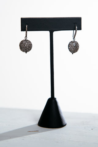 Small Disc Pave Earrings