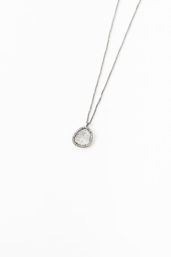 Small Cut Diamond Necklace