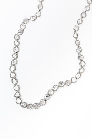 Cut Diamond Chain Necklace