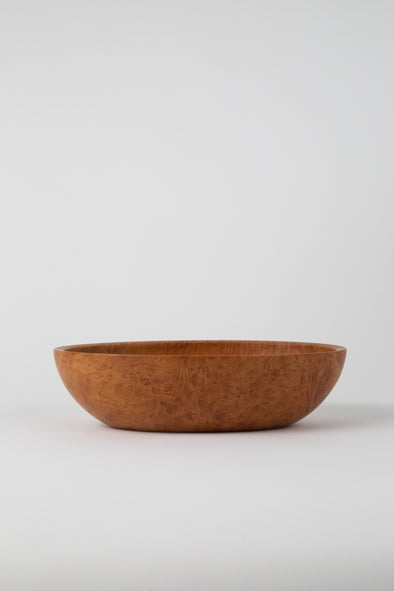 HAND CRAFTED PACIFIC MADRONE OVAL BOWL