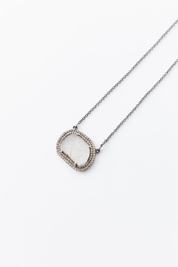 CUT DIAMOND PENDANT NECKLACE