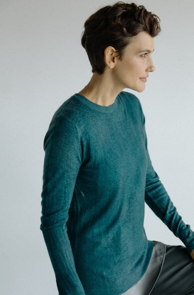 POKHARA TOP IN HAND-DYED CASHMERE
