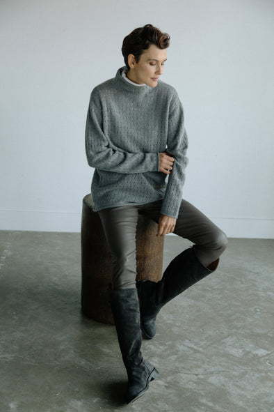 LILLE MOCK NECK SWEATER IN CASHMERE-MERINO