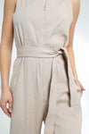 JUMPSUIT IN LINEN-COTTON