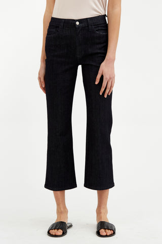 5 Pocket Cropped Flare Leg