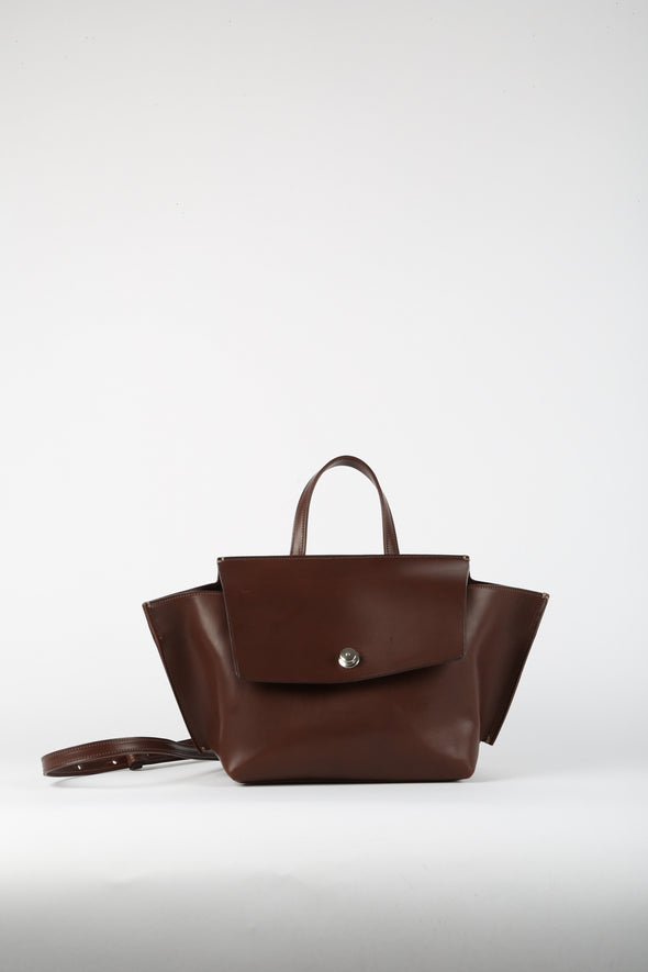 WINGED HANDBAG IN ITALIAN LEATHER