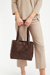 LEATHER WEAVE TOTE