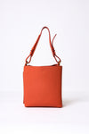 SQUARE TOTE BAG IN FRENCH LEATHER
