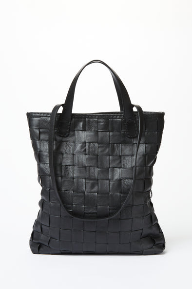 Leather Basket Weave Tote